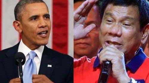 Pelillos a la mar: Obama intercambia cumplidos con el presidente filipino que le llamó