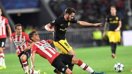 Saúl saca con vida al Atlético en Eindhoven de su estreno en Champions (1-0)