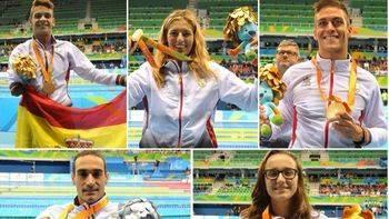 Oro de Óscar Salguero, Michelle Alonso e Israel Oliver; Plata de Miguel Luque y bronce de María Delgado