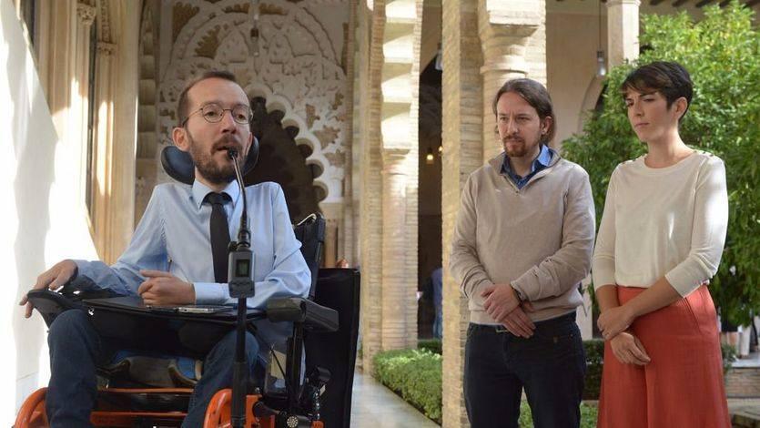 Iglesias y Echenique apoyan a la nueva presidenta de las Cortes de Aragón, Violeta Barba