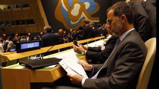 El Rey hace un llamamiento en la ONU para acoger refugiados
