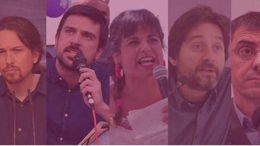 Los 10 rostros del Podemos más duro y rupturista