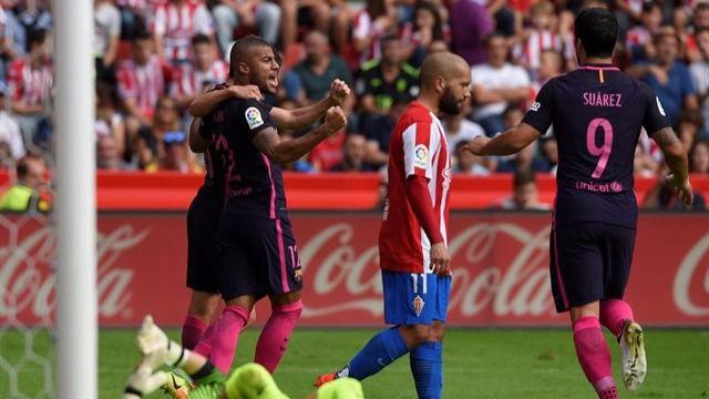 Los recambios de Luis Enrique para que descansen las estrellas del Barça se ceban con el Sporting (0-5)