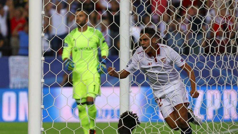 Champions: el Sevilla sufre para abrir el cerrojo del Lyon (1-0)