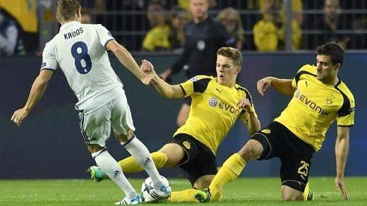 Champions: el Madrid, erre que erre: vuelve a despistarse y a encajar el empate en Dortmund en los minutos finales (2-2)