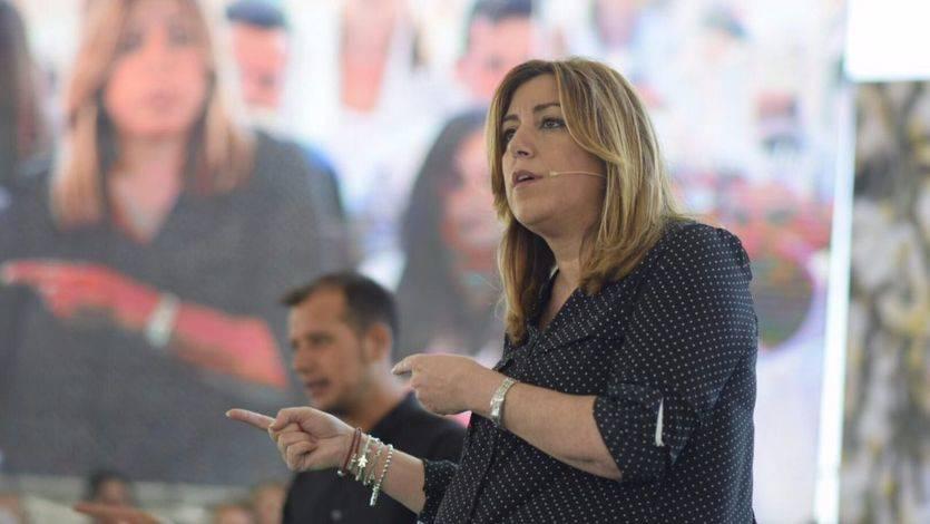 Susana Díaz en el mitin de Garrucha (Almería).