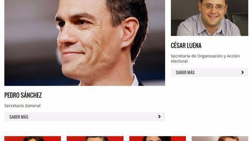 El PSOE elimina de su web a los 17 críticos que dimitieron de la Ejecutiva