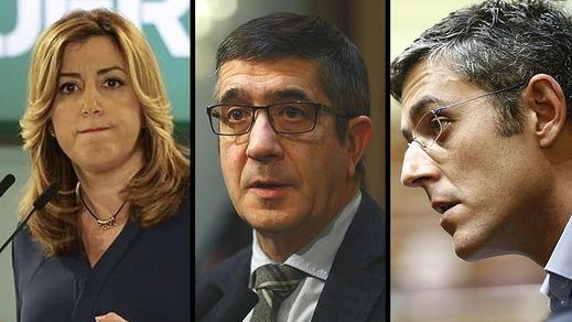 Susana Díaz, Patxi López y Madina, aspirantes a suceder a Sánchez, que luchará en las primarias