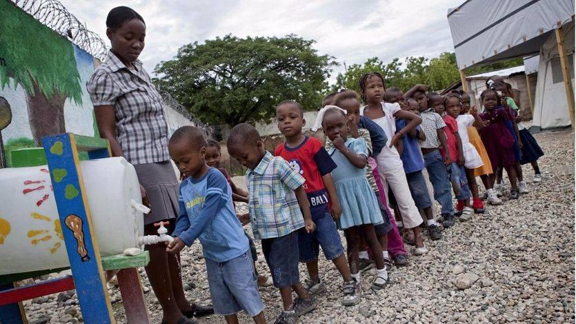 El drama de los niños de Haití por el paso del huracán Matthew
