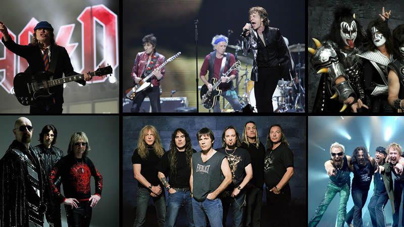 Las 10 bandas clásicas del rock más activas de la historia