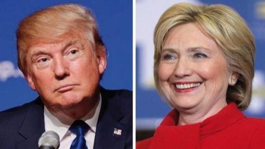 Trump, a 10 puntos de Clinton en las encuestas, denuncia que las elecciones están