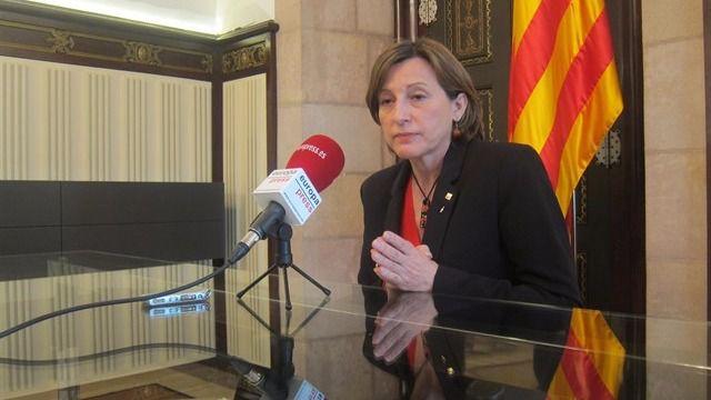 La Fiscal�a ordena abrir una causa criminal contra la presidenta del Parlament