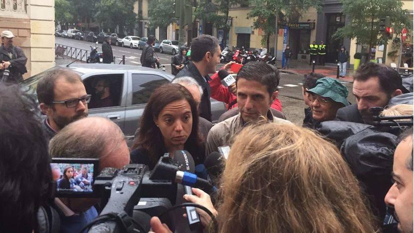 Sara Hernández, secretaria general del  PSM, se reitera en el 'no' esta misma mañana a las puertas de Ferraz.