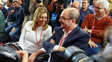 Susana D�az y Javier Lamb�n.