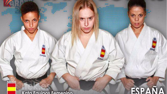 Las chicas siguen siendo guerreras y medalleras: la kata española femenina, plata en el Mundial de Linz