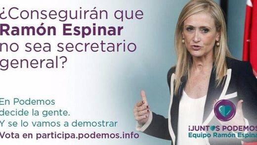 "Cristina Cifuentes se la devuelve a Ramón Espinar: ""Tranquilo, tampoco apoyo a Rita"""