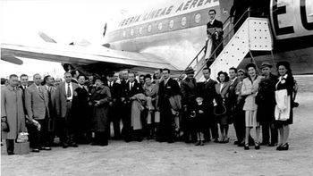 Iberia inaugura la exposición '70 años en América Latina' en la Casa de América