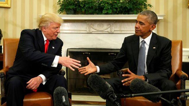 Donald Trump y Barack Obama escenifican el cambio de era en EEUU