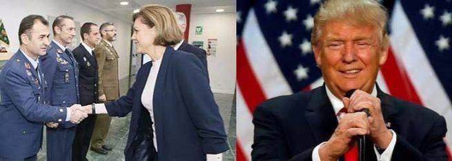Primer 'marrón' para la ministra Cospedal: ¿subirá España el gasto en Defensa para contentar a Donald Trump?