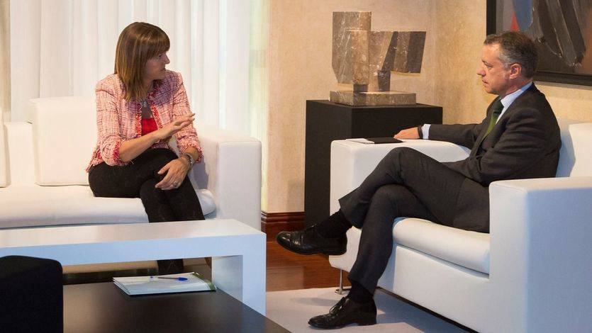Idoia Mendia (PSE) e Íñigo Urkullu (PNV