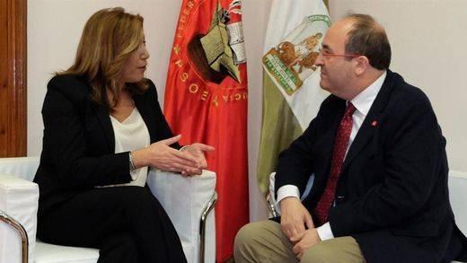 Susana Díaz firma la paz con el PSOE catalán antes de intentar liderar el partido