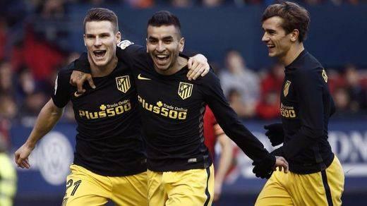 Simeone rectifica y el Atlético se reencuentra con la victoria en El Sadar (0-3)