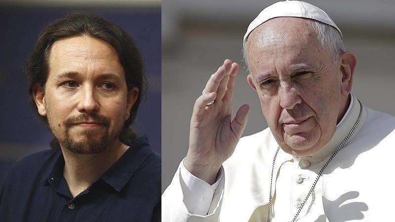 Pablo Iglesias afirma que en 'lo fundamental' está de acuerdo con el Papa Francisco