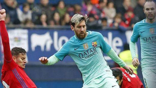 El Barça pone fin a las dudas goleando 0-3 al Osasuna y metiendo presión al Madrid