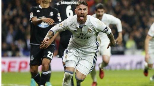 Repetición de la jugada ante el Dépor: 'San' Ramos vuelve a salvar al Madrid en el tiempo añadido (3-2)