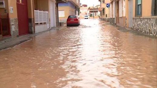 Impresionantes imágenes en vídeo del temporal en Murcia