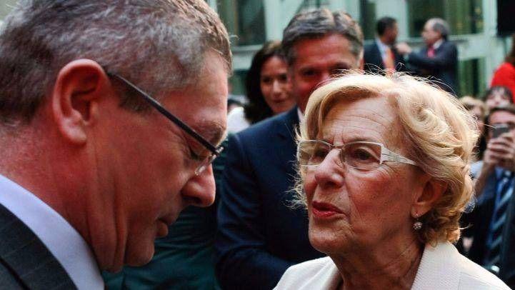 Alberto Ruiz-Gallardón y Manuela Carmena
