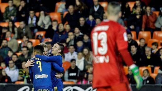 Copa: el Celta apuntilla al Valencia (1-4), el Atlético a Las Palmas (0-2) y el Eibar a Osasuna (0-3)