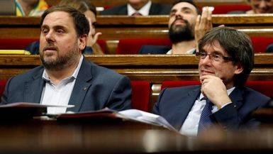 Junqueras no se asusta por el anunciado adiós de Puigdemont, que dice