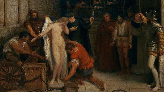 'Una escena de la Inquisición', cuadro de Víctor Manzano y Mejorada