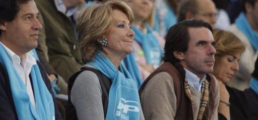Aguirre se moja en el debate sobre los planes 'ocultos' de Aznar