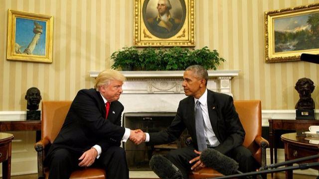 Relevo no oficial en la Casa Blanca