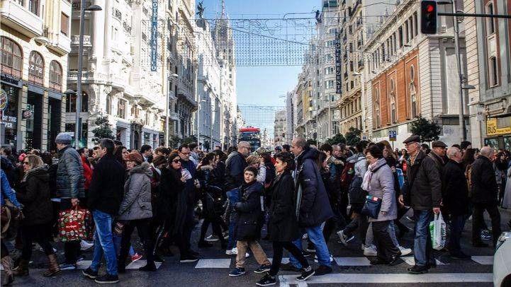Paso de peatones en la calle Gran Vía