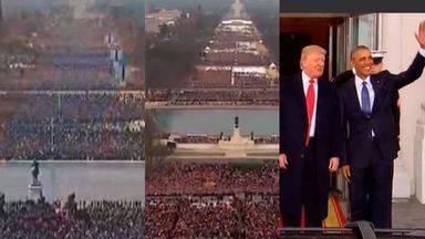 Toma de posesión de Barak Obama y Donald Trump