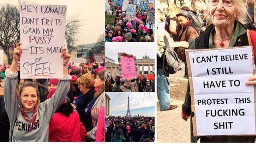 Una multitudinaria 'Marcha de las Mujeres' en Washington recibe al presidente Trump