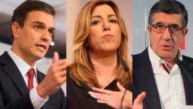 Patxi López y Susana Díaz sacan ventaja a Sánchez en sus giras de 'campaña'