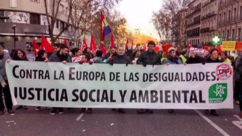 Más de 3.000 personas se manifiestan en Madrid contra el CETA