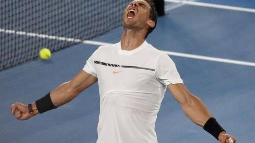 Nadal está como nunca: gana fácil a Raonic y alcanza las semifinales de Australia