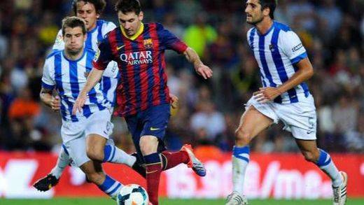 Copa: 'Supermessi' mete al Barça en las semifinales ante una Real débil (5-2)