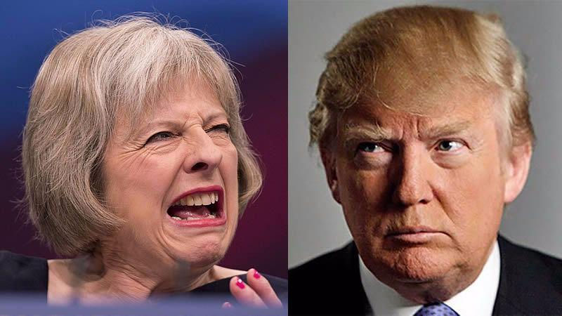 Trump y May: una alianza EEUU-Reino Unido para 'liderar el mundo otra vez'