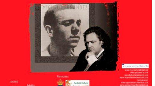 Paco Damas reedita el disco 'Tristes guerras' como homenaje en el 75 aniversario de la muerte de Miguel Hernández