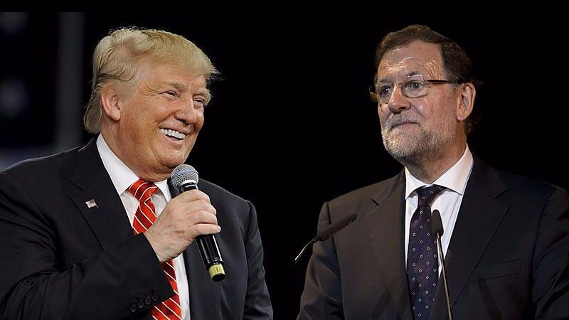 Rajoy por fin tose a Trump: 'No estoy a favor de los vetos ni de las fronteras'