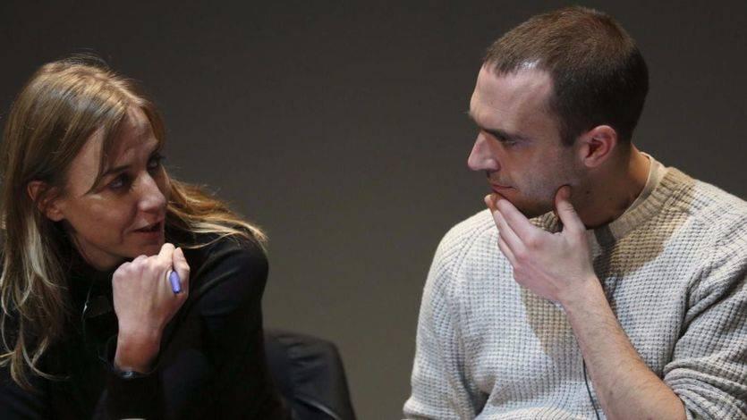 Tania Sánchez junto al secretario de Unidad Popular de Podemos, Luis Alegre
