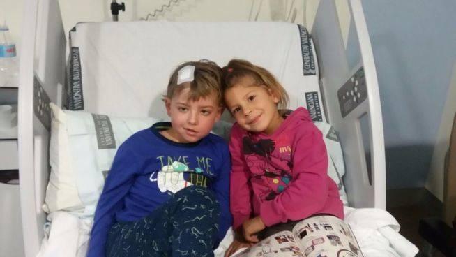 José David y su hermana Naira