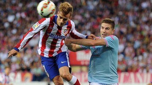 El Atlético remonta a la heroica ante el Celta un partido en el que volvió a fallar un penalti (3-2)