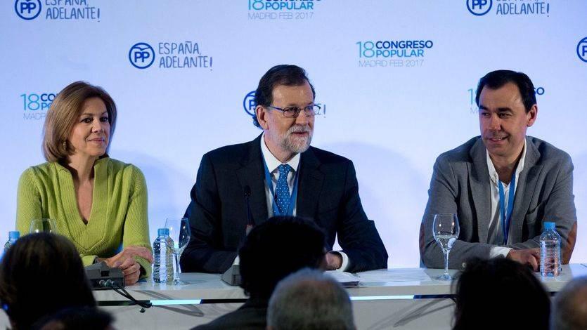 Rajoy, Cospedal y Fernando Martínez-Maillo en el Comité Ejecutivo Nacional en 18 Congreso PP